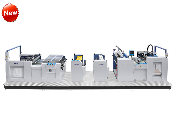 China High Speed Thermal Film Laminating Machine With Embossing And Repressing Device factory