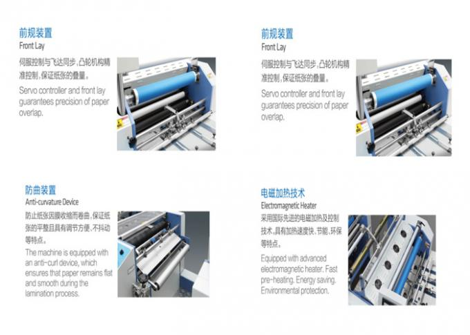 20 / 12Kw Automatic Lamination Machine For Pre - Coated Film / Matters Printing